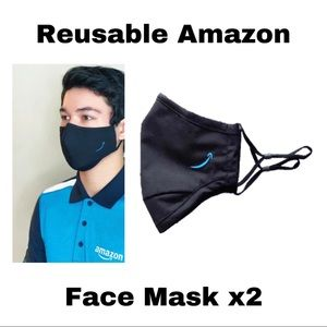 Reusable Amazon branded adult facemask bundle of 2